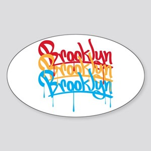 Brooklyn Colors Oval Sticker